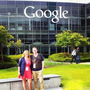 Jenika and David at Google