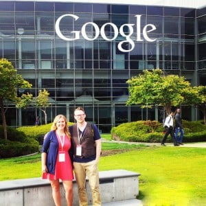 Jenika and David at Google