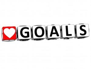 3D Love Goals Button Click Here Block Text