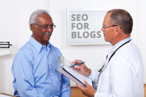 men at colonoscopy SEO for blogs