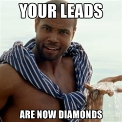 "The Old Spice Guy says ""Your Leads Are Now Diamonds"""