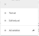No option for responsive text ads