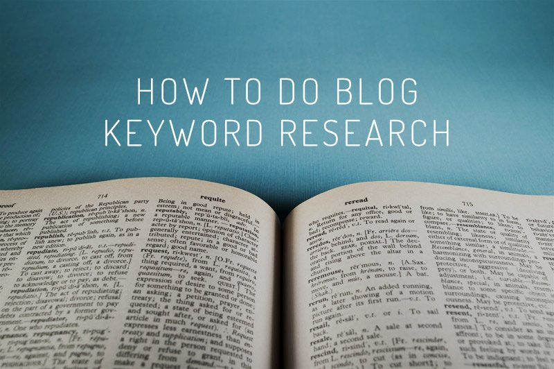 How to do Blog Keyword Research