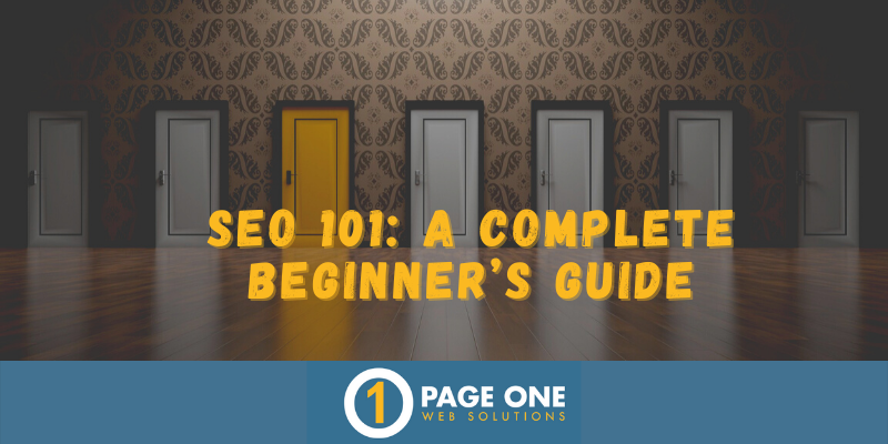 P1 Blog - SEO 101 A COMPLETE BEGINNER'S GUIDE
